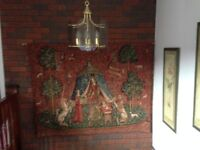 """Quality Large wall hanging tapestry """"TO MY ONLY DESIRE"""" my METRAX Belgium"""