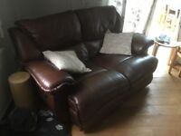 Leather sofas electric recliners 2 and 3 seat both with 2 electric recliners !