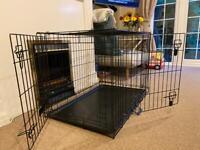 Large 2 door dog crate
