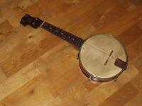 Vintage Windsor Whirle Banjolele and Case