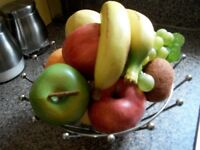 Fruit Basket with 10 pieces of artificial fruit