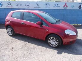 PART X DIRECT OFFERS YOU A FIAT GRANDE PUNTO 1.4 WITH NEW MOT ,SERVICE AND TIMING BELT!!