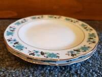 2 Floral Blue Side Plates