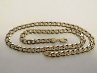 9ct gold curb chain Italy 64cm