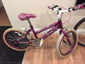 """Raleigh Krush girls child's bike 14"""" wheel excellent condition"""