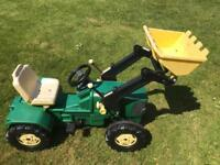 Giant Ride On John Deer Pedal Tractor & Tipping Bucket