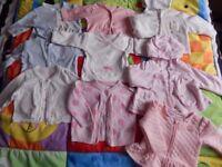 Baby girl cardigans 0-3 bundle of 9