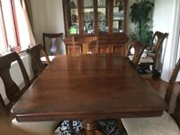 Dinning table /matching dressers & 10 chairs