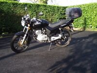 125 motorcycle, low milage, good condition, current MOT, reliable, ideal for learner.