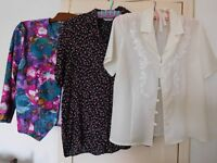 3 ladies assorted blouses - size 14