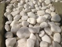 Various sized immaculate white Quartz Stones