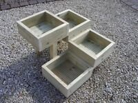 NEW - handmade quality decking staircase herb / bedding planter - heavy duty