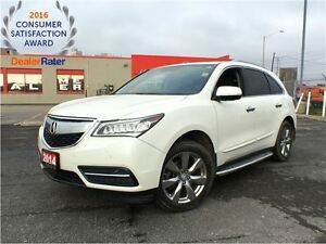 2014 Acura MDX ELITE**SH-AWD**LEATHER**NAVIGATION**SUNROOF**DVD*