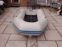 INFLATABLE DINGHY WAVELINE 2.7M SOLID OUTBOARD TRANSOM DINGY TENDER RIB SIB BOAT