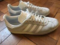 Gazelle white Adidas size 10