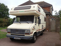 LHD Frankia motorhome 1988 Ducato 2.5D All eqpt Ready to travel