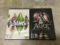 Sims 3 and Alice Madness Returns