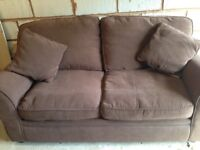 FOR SALE - Chocolate brown sofa bed