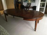 Edwardian extending dining table