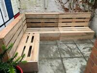 Garden pallet furniture