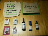Organic Clearspring bag and products