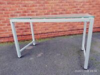 Glass Table with silver legs