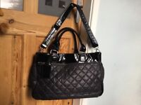 Mothercare Black Padded Baby Changing Bag