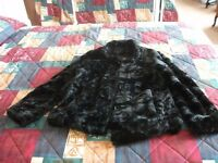 ZONA Black Faux Fur Jacket - Size 10