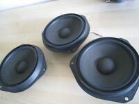 3 vauxhall vectra door speakers x 3