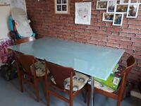 Table and 4 chairs good condition great for someone starting out