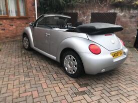 Vw beetle convertible 1.6 petrol 2005