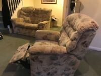 2 seater sette & matching electric recliner