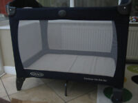 Graco Contour On The Go Travel Cot Navy