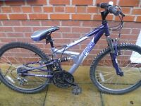 Apollo FS24 Mountain Bike - 18 Speed - Full Suspension