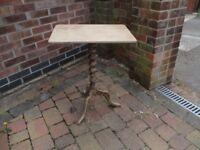 Antiqued side table
