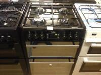 Beko 60cm black gas cooker (double oven)
