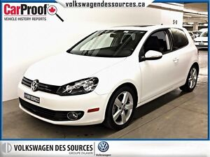 2012 Volkswagen Golf 2.5L Sportline, SUNROOF, BLUETOOTH