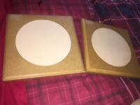 2 thistle drum pads