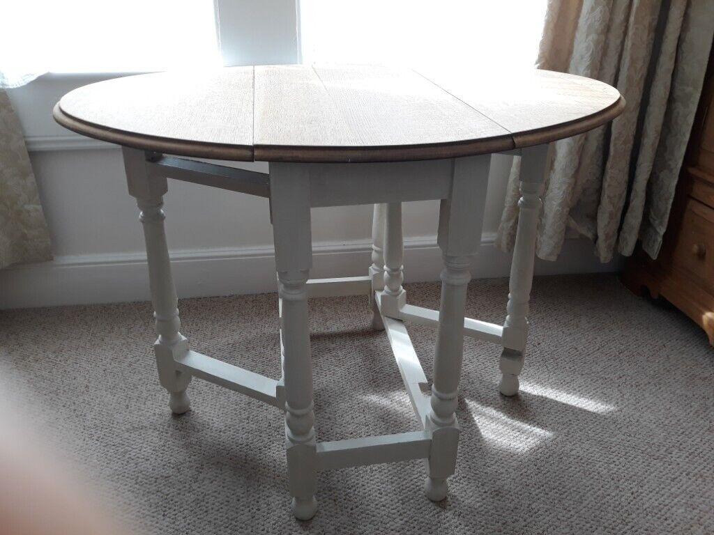 Vintage Solid Wood Drop Leaf Gate Leg Extending Table With Painted Legs In Bath Somerset Gumtree