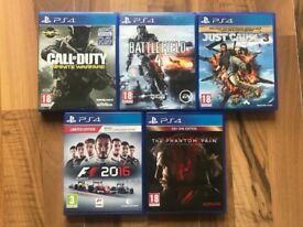 ps4 (playstation 4) games £10 each or £40 for 5 , all as new condition ! price stands , no offers !