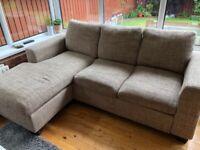 3 seater L shaped sofa