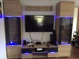 Home furniture, living room furniture set, sofa bed, drawer, led, TV set, pouf, cabinet