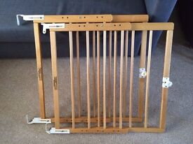 2 x Mothercare Extendable Wooden Stairgates