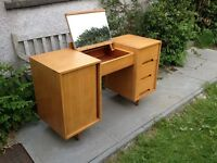 Oak 'C' Range Dressing Table/Desk by John & Sylvia Reid for Stag c 1953