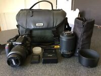 Nikon D3100 With 2 Lenses and Accsessories