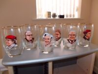 COLLECTABLE RARE 6 GLASSES CHARACTERS CORONATION STREET