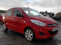 HYUNDIA I10 CLASSIC 1.2 5DR RED 1YRS MOT £20 RD TAX,CLICK ON VIDEO LINK TO SEE MORE DETAILS