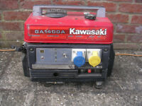 KAWASAKI GA1400A, 110v, 240v and 12v charging generator