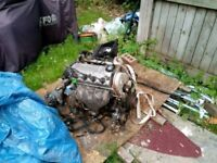 Honda civic engine and gearbox 1.4 comes with ECU D14 2000