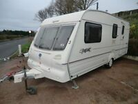 REDUCED Baily Pagent Champagne 4 berth with end washroom 2000 power mover and awning
